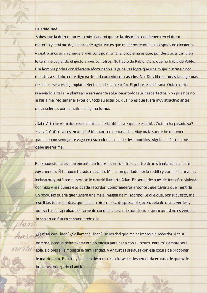 Carta de Dulce María p1