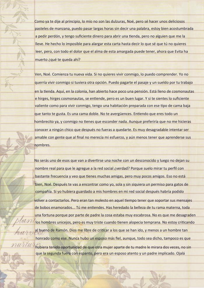 Carta de Dulce María p3