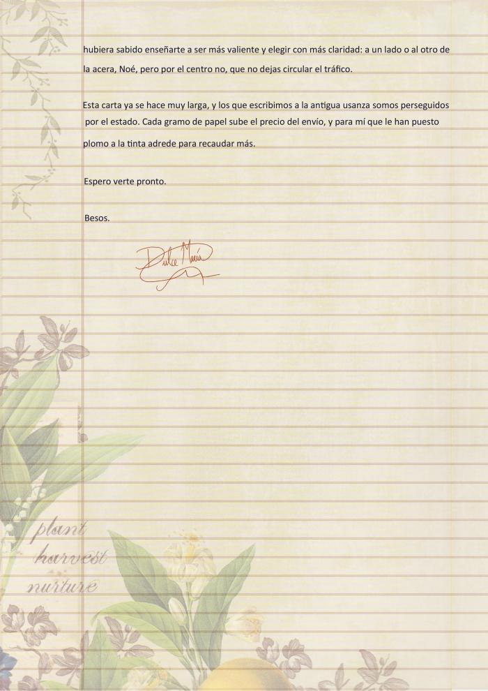 Carta de Dulce María p4